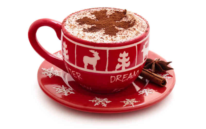Red and while cup and saucer with winter holiday motif filled with hot chocolate. It's not unusual for seniors to feel lonely around the holidays. One of the best ways to combat these feelings is to stay active and engaged with a supportive community.
